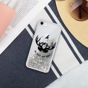 Be Wild and Free Liquid Glitter Phone Case