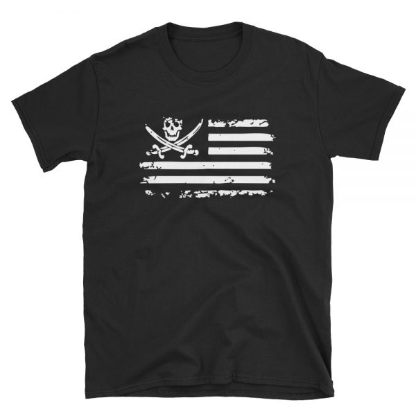Pirate Skull Flag Unisex T Shirt