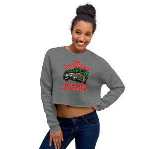 Family christmas Crop Sweatshirt