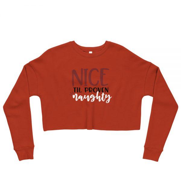 Nice til proven naughty Crop Sweatshirt