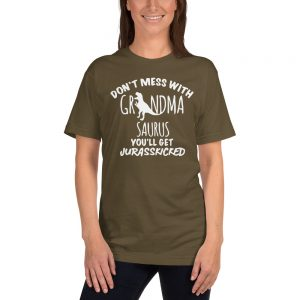 mockup 4c68ea4c 300x300 - Don't Mess With Grandma Saurus T-Shirt