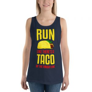 Run Like There's A Taco At The Finish Line Unisex Tank Top