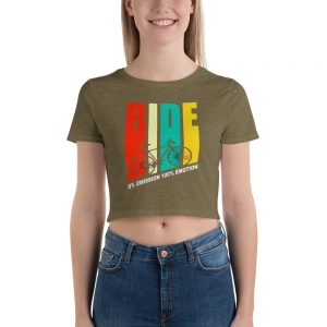 Bicycle lover Women's Crop Tee