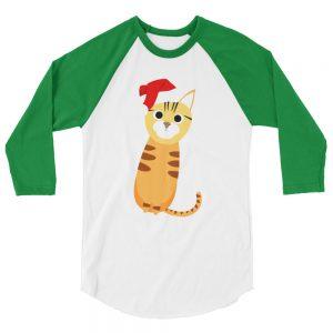 Bengal cat 3/4 sleeve raglan shirt