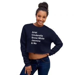 mockup 25a61cae 300x300 - Disney princess quote Crop Sweatshirt