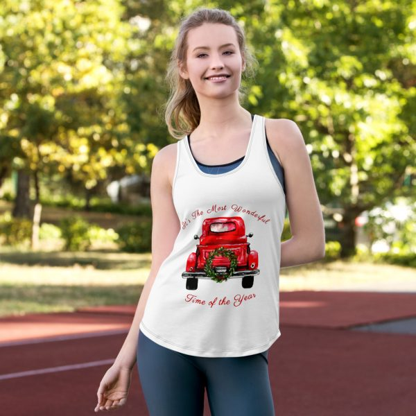 Truck with tree Women's Racerback Tank