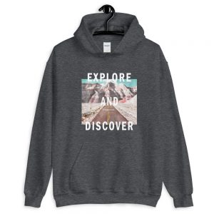 Explore and Discover Unisex Hoodie
