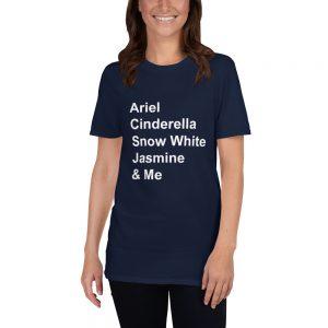 mockup a829c225 300x300 - Disney princess quote Short-Sleeve Unisex T Shirt