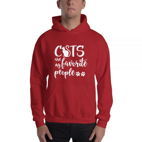 Cats are my favorite people Unisex Hoodie
