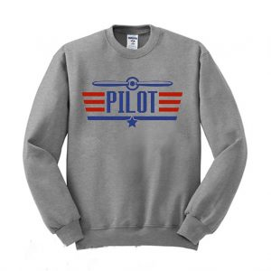 Airplane Pilot Wingman Sweatshirt