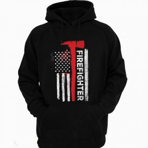 American Firefighter USA flag Hoodie