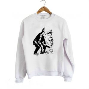 Charles Darwin Ape Funny Evolution Sweatshirt 300x300 - Home