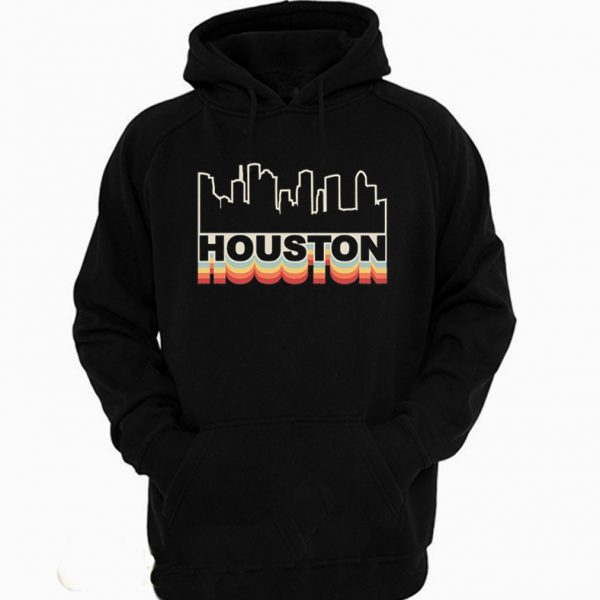 Houston Skyline Rainbow Style Hoodie