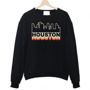 Houston Skyline Rainbow Style Sweatshirt