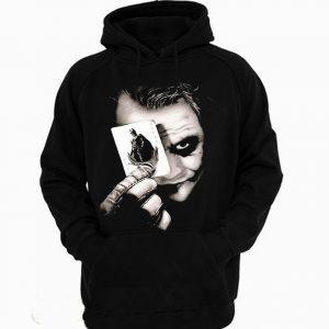 Joker Face Batman Card Hoodie