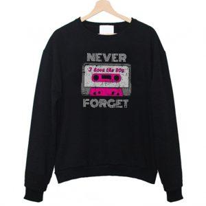 Tape Cassette Vintage Cool Retro Sweatshirt