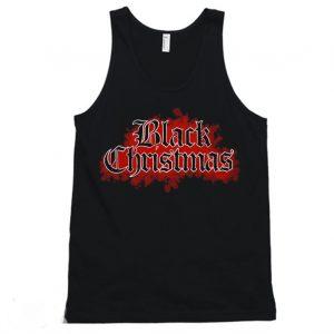 Black Christmas Horror Movie Tanktop