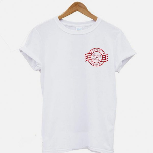 Christmas Holiday Express Mail Stamp T Shirt