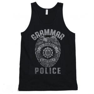Grammar Police Funny Joke Quotes Teacher Tanktop