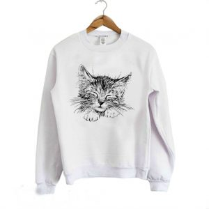Head of sleeping cat Sweatshirt 300x300 - Home
