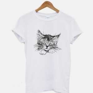 Head of sleeping cat T Shirt 300x300 - Home
