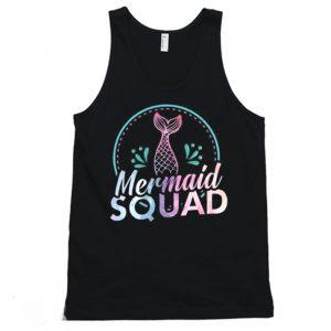 Mermaid Squad Funny Mermaid Tanktop