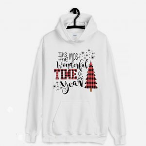 Most Wonderful Time Of The Year Buffalo Plaid Christmas Trees Hoodie 300x300 - Home