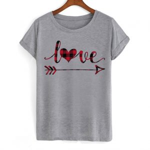 Plaid Love Heart and Arrow Valentines Day T Shirt 300x300 - Home