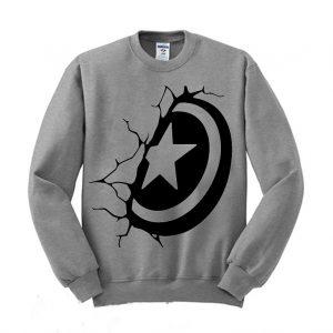 Captain America shield decal Sweatshirt