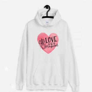 Love is Magical Unicorn Valentine Hoodie