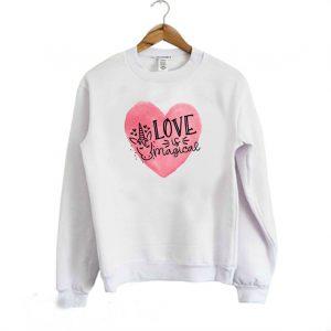 Love is Magical Unicorn Valentine Sweatshirt