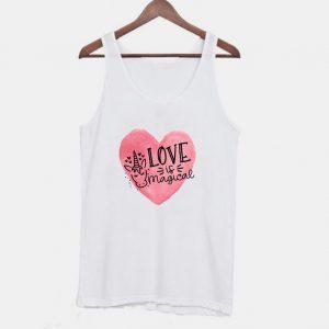 Love is Magical Unicorn Valentine Tanktop