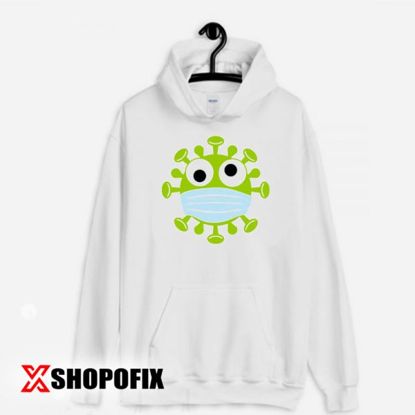 Corona Virus With mask Hoodie