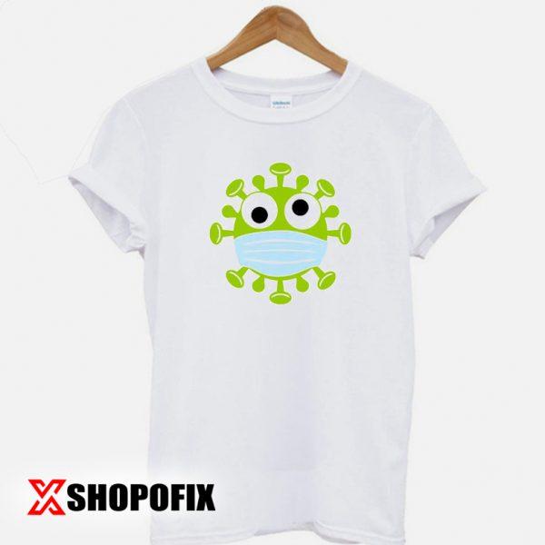 Corona Virus With mask T-shirt
