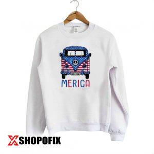 Merica Bus Americana Independence Day Sweatshirt 300x300 - Home