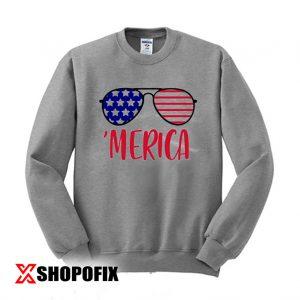 Merica Glasses Independence Day Sweatshirt 300x300 - Home