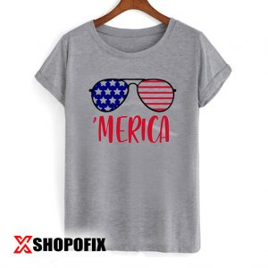 Merica Glasses Independence Day T-shirt