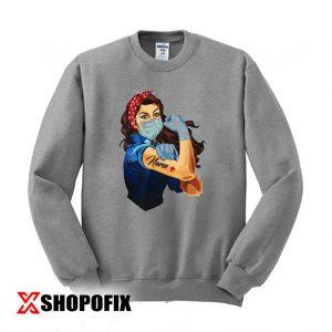 Rosie The Riveter Fearless Nurse Sweatshirt 300x300 - Home