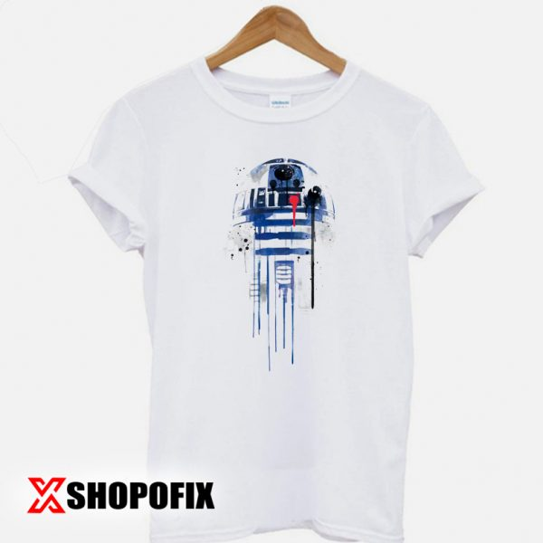 R2D2 Star wars robot Sketch T shirt