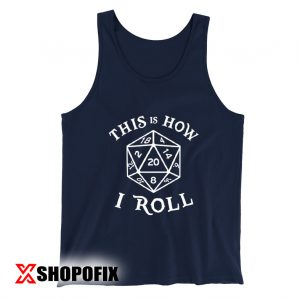20 Sided Dice T Shirt Dungeons Tanktop