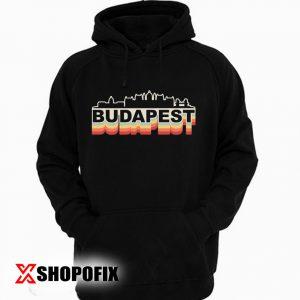 Budapest Skyline Vintage Hoodie