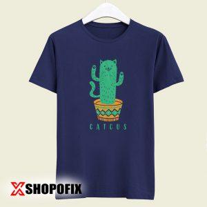 Catcus Cat Cactus Plant Tshirt