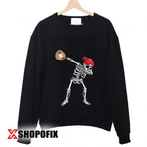 Dabbing Skeleton Baseball Sweatshirt