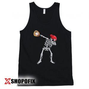 Dabbing Skeleton Baseball Tanktop