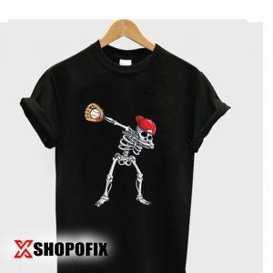 Dabbing Skeleton Baseball Tshirt