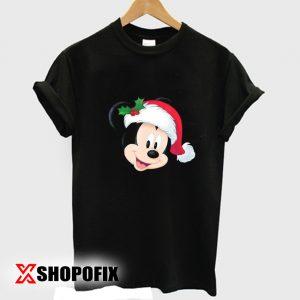 Disney Mickey Mouse in Santa Hat tshirt