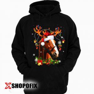 Horses Tree Christmas Sweater Xmas Pet Animal Horse Gifts Hoodie