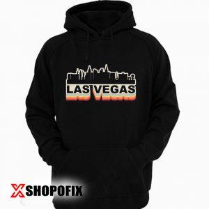 Las Vegas Skyline Vintage Retro Hoodie