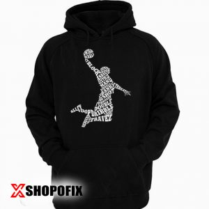 Men's Basketball Player Typography Hoodie