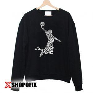 Men's Basketball Player Typography Sweatshirt